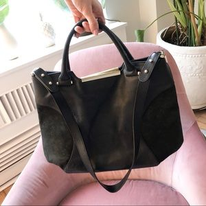 & Other Stories genuine black leather handbag